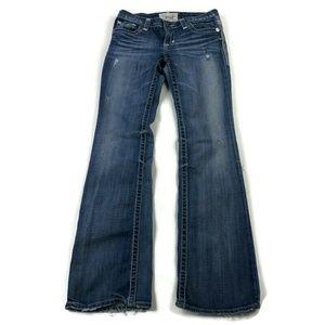 Big Star Liv Bootcut Blue Stretch Distressed Jeans